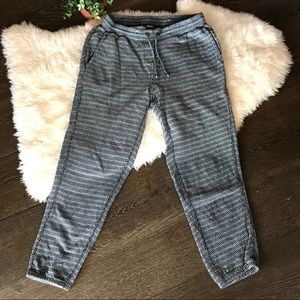 Roots rare cropped sweat pants weaved pattern